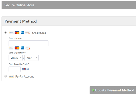 Payment method change, step 3 (and done)