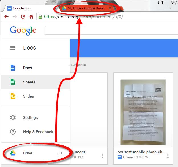 How-to: Google Docs OCR