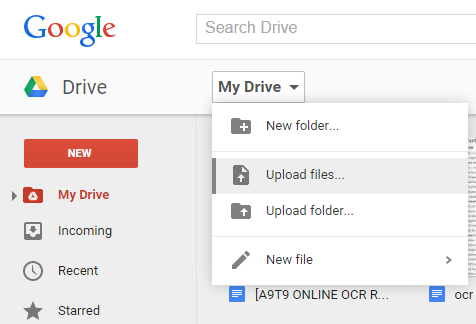 how to upload pdf file in google docs