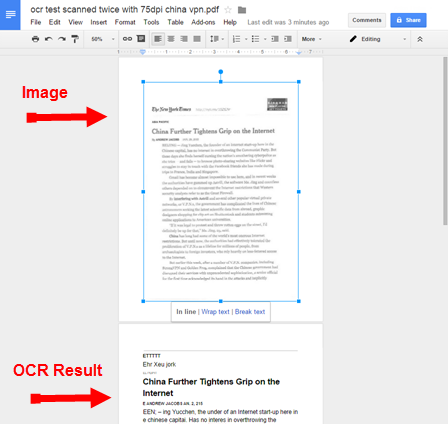 How-to: Google Docs OCR