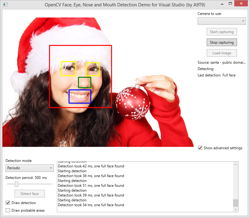 Opencv Face Eye Nose And Mouth Detection Tutorial Now